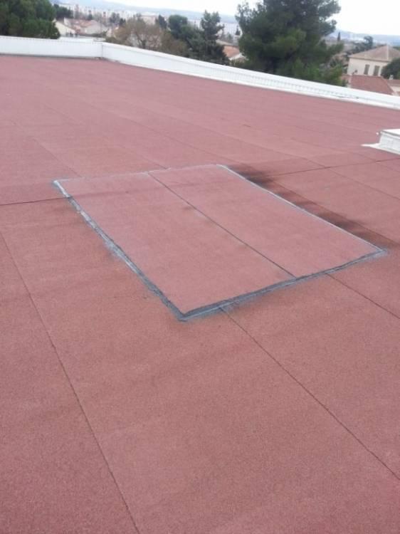 r paration tanch it sur le aldi de marignane entreprise tanch it terrasse toiture mur. Black Bedroom Furniture Sets. Home Design Ideas
